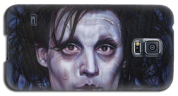 Johnny Depp Galaxy S5 Case - Edward Scissorhands by Timothy Scoggins