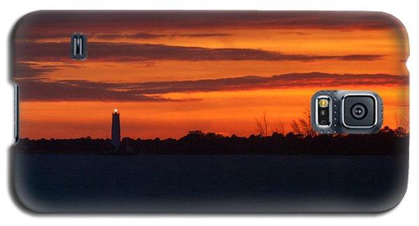 Egmont Key Lighthouse Sunset Galaxy S5 Case