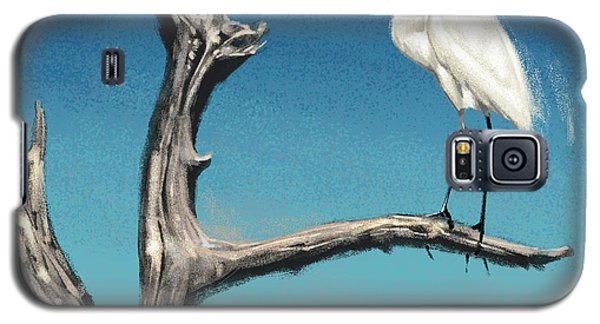 Galaxy S5 Case featuring the digital art Egret by Aaron Blaise