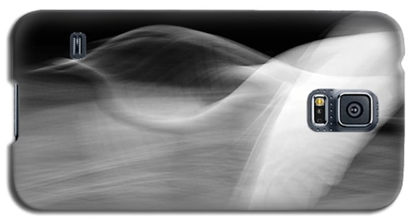 Galaxy S5 Case featuring the photograph Egret Fantasy In Black And White by Anne Rodkin