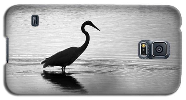 Egret In Bw Galaxy S5 Case