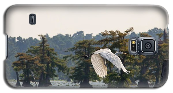 Egret In Flight Galaxy S5 Case