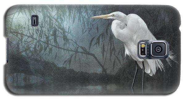 Egret In Moonlight Galaxy S5 Case by Brian Tarr