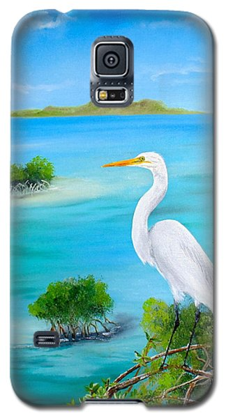 Egret In The Mangroves Galaxy S5 Case