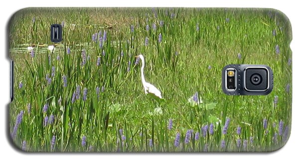 Egret On The Lake Galaxy S5 Case