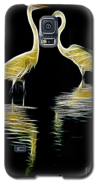 Galaxy S5 Case featuring the photograph Egret Pair by Jerry Fornarotto