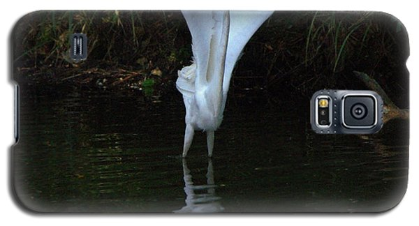 Galaxy S5 Case featuring the photograph Egret Take Off by Charlotte Schafer