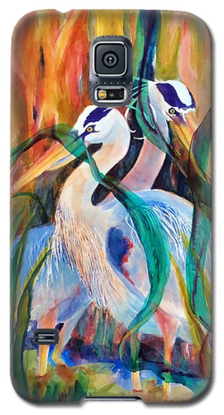 Egrets In Red 2            Galaxy S5 Case