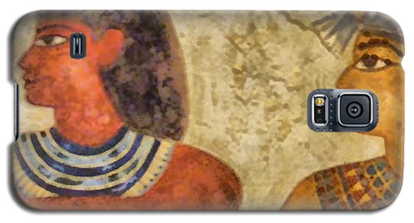 Galaxy S5 Case featuring the painting Egypt Pharaohs by Georgi Dimitrov