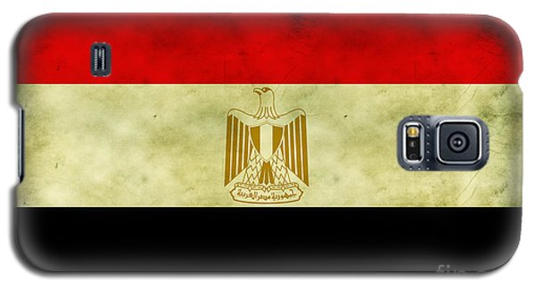 Galaxy S5 Case featuring the digital art Egyptian Flag  by Mohamed Elkhamisy