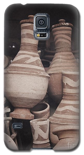 Galaxy S5 Case featuring the photograph Egyptian Hand Made Traditional Bowl Of Cold Water by Mohamed Elkhamisy