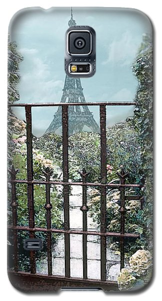 Eiffel Garden In Blue Galaxy S5 Case