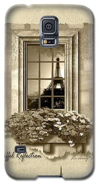 Eiffel Reflection In Sepia Galaxy S5 Case