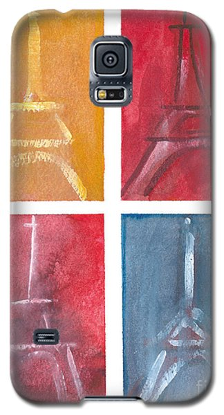 Eiffel Tower Paintings Of 4 Up Galaxy S5 Case