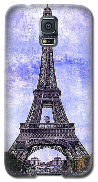 Galaxy S5 Case featuring the photograph Eiffel Tower Paris by Kathy Churchman