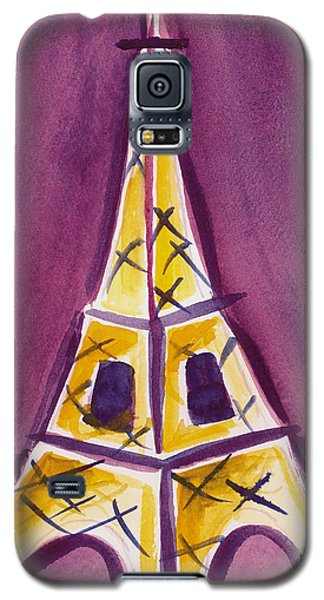 Eiffel Tower Purple And Yellow Galaxy S5 Case