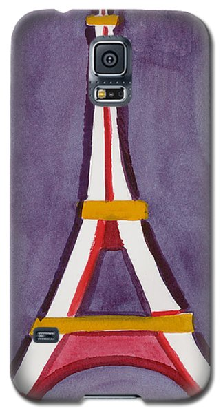 Eiffel Tower Purple Red Galaxy S5 Case