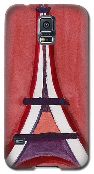 Eiffel Tower Red White Galaxy S5 Case
