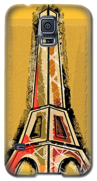 Eiffel Tower Yellow And Red Galaxy S5 Case