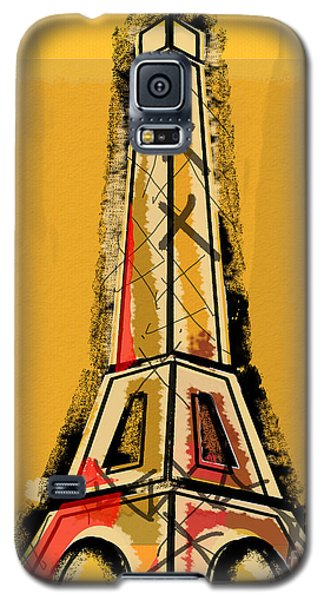 Eiffel Tower Yellow Black And Red Galaxy S5 Case
