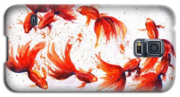 Eight Dancing Goldfish  Galaxy S5 Case by Zaira Dzhaubaeva