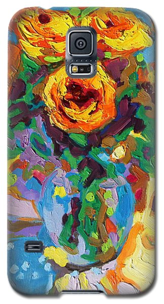 Eight Yellow Roses Oil Painting Bertram Poole Apr14 Galaxy S5 Case
