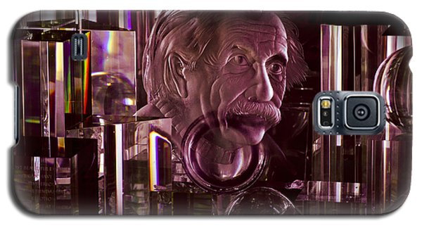 Einstein In Crystal - Purple Galaxy S5 Case