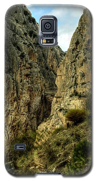 Galaxy S5 Case featuring the photograph El Chorro View Of The Railway Bridge by Julis Simo