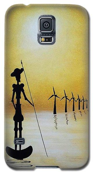 Don Quixote Fighting The Windmills Galaxy S5 Case by Edwin Alverio