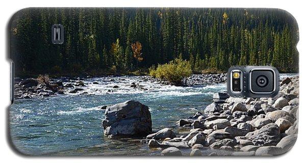 Elbow River Rock Art Galaxy S5 Case by Cheryl Miller