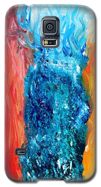 Galaxy S5 Case featuring the painting Elder Thing by Lola Connelly