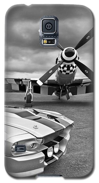 Eleanor Mustang With P51 Black And White Galaxy S5 Case