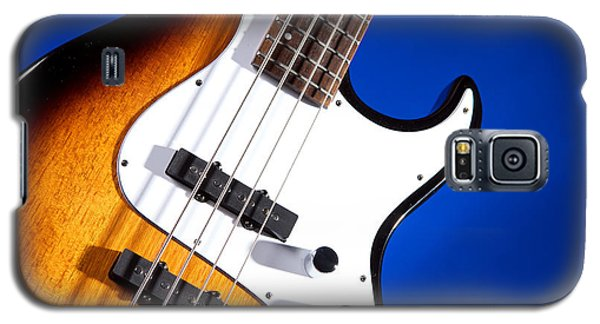 Electric Bass Guitar Photograph On Blue 3322.02 Galaxy S5 Case