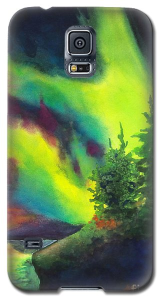Electric Green In The Sky 2 Galaxy S5 Case