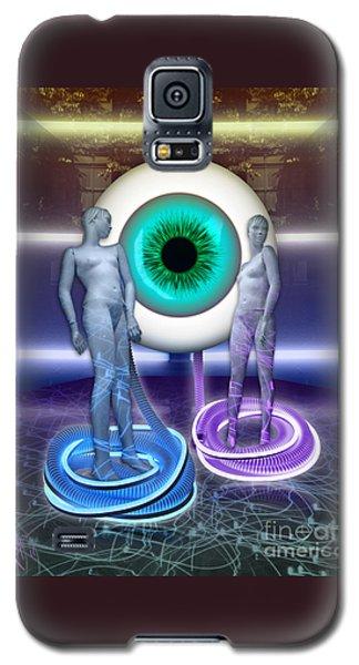 Electric Lady Eye Galaxy S5 Case by Rosa Cobos