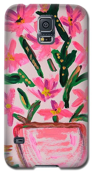 Electric Pink Flowers Galaxy S5 Case by Mary Carol Williams