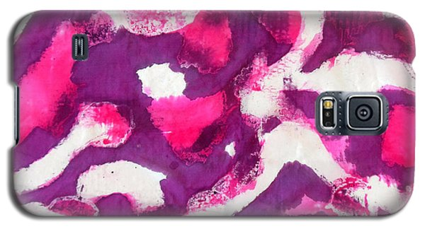 Galaxy S5 Case featuring the painting Electric Purple by Joan Reese