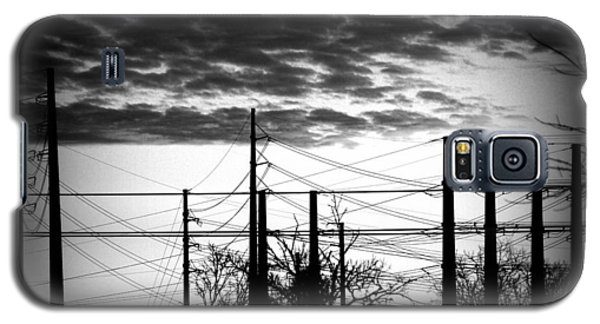 Galaxy S5 Case featuring the photograph Electric Sunset Two Black And White by James Granberry
