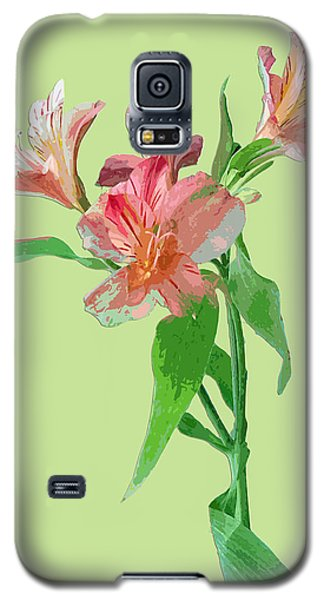 Galaxy S5 Case featuring the photograph Elegance On Green by Karen Nicholson