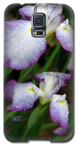 Galaxy S5 Case featuring the photograph Elegant Purple Iris by Marie Hicks
