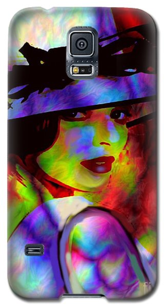 Galaxy S5 Case featuring the digital art Elegant Woman In Shade by Diana Riukas