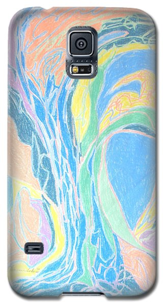 Galaxy S5 Case featuring the painting Elegy To A Tree by Esther Newman-Cohen