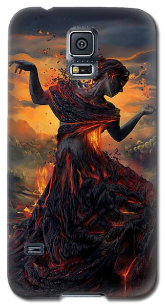 Elements - Fire Galaxy S5 Case by Cassiopeia Art