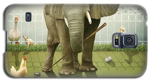 Galaxy S5 Case featuring the photograph Elephant Golf by Ethiriel  Photography