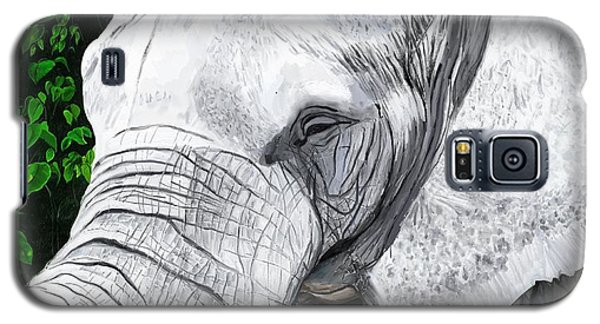 Galaxy S5 Case featuring the painting Elephant II by Jeanne Fischer
