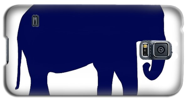 Elephant In Navy And White Galaxy S5 Case