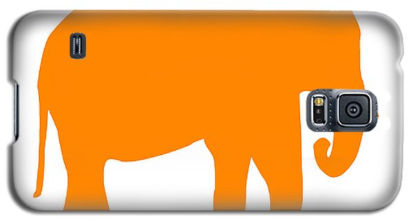Elephant In Orange And White Galaxy S5 Case