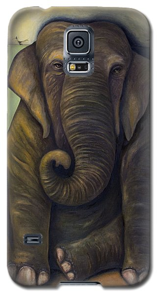 Elephant In The Room Galaxy S5 Case by Leah Saulnier The Painting Maniac