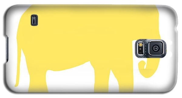 Elephant In Yellow And White Galaxy S5 Case