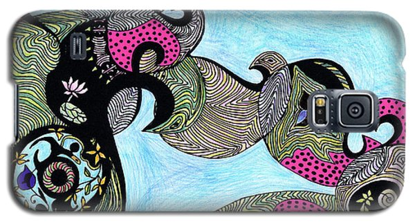 Elephant Lotus And Bird Design Galaxy S5 Case